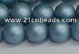 CSB1715 15.5 inches 14mm round matte shell pearl beads wholesale