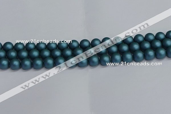 CSB1733 15.5 inches 10mm round matte shell pearl beads wholesale