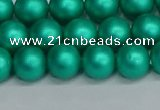 CSB1752 15.5 inches 8mm round matte shell pearl beads wholesale