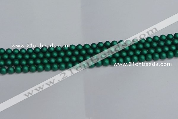 CSB1760 15.5 inches 4mm round matte shell pearl beads wholesale
