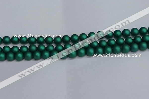 CSB1763 15.5 inches 10mm round matte shell pearl beads wholesale