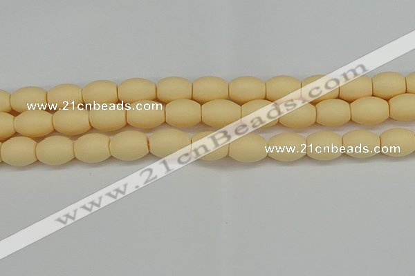 CSB2100 15.5 inches 10*14mm rice matte shell pearl beads