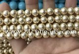 CSB2116 15.5 inches 8mm ball shell pearl beads wholesale