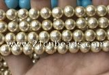 CSB2118 15.5 inches 12mm ball shell pearl beads wholesale