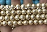 CSB2119 15.5 inches 14mm ball shell pearl beads wholesale