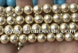 CSB2120 15.5 inches 16mm ball shell pearl beads wholesale