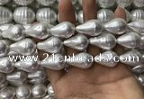 CSB2127 15.5 inches 16*25mm teardrop shell pearl beads wholesale