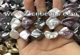 CSB2167 15.5 inches 16*16mm - 18*20mm baroque mixed shell pearl beads
