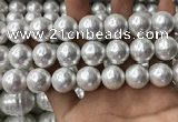 CSB2185 15.5 inches 18mm ball shell pearl beads wholesale