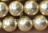 CSB2187 15.5 inches 6mm ball shell pearl beads wholesale