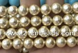 CSB2189 15.5 inches 20mm ball shell pearl beads wholesale