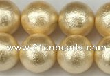 CSB2224 15.5 inches 12mm round wrinkled shell pearl beads wholesale