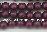 CSB2250 15.5 inches 4mm round wrinkled shell pearl beads wholesale