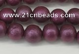 CSB2251 15.5 inches 6mm round wrinkled shell pearl beads wholesale