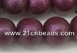CSB2255 15.5 inches 14mm round wrinkled shell pearl beads wholesale