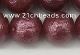 CSB2266 15.5 inches 16mm round wrinkled shell pearl beads wholesale