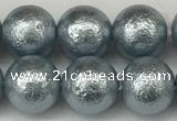CSB2283 15.5 inches 10mm round wrinkled shell pearl beads wholesale