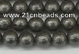 CSB2320 15.5 inches 4mm round wrinkled shell pearl beads wholesale