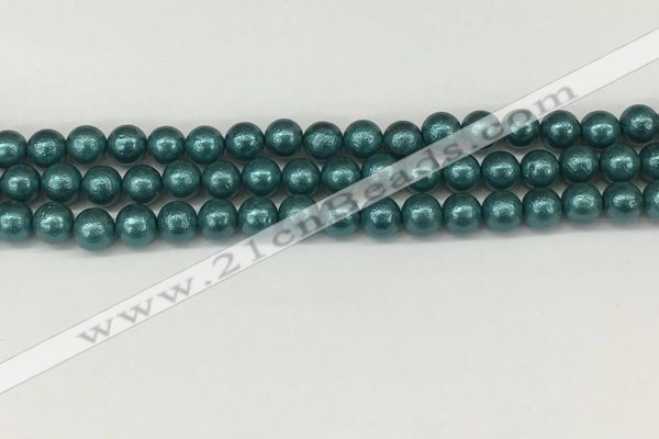 CSB2331 15.5 inches 6mm round wrinkled shell pearl beads wholesale