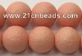 CSB2423 15.5 inches 10mm round matte wrinkled shell pearl beads