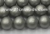 CSB2491 15.5 inches 6mm round matte wrinkled shell pearl beads