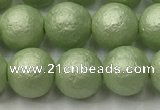CSB2533 15.5 inches 10mm round matte wrinkled shell pearl beads