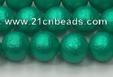 CSB2561 15.5 inches 6mm round matte wrinkled shell pearl beads