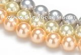 CSB32 16 inches 8mm round shell pearl beads Wholesale