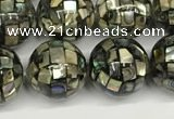 CSB4100 15.5 inches 10mm ball abalone shell beads wholesale