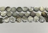 CSB4105 15.5 inches 15mm carved flower abalone shell beads