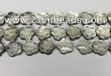 CSB4107 15.5 inches 20mm carved flower abalone shell beads