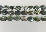 CSB4129 15.5 inches 13*18mm oval abalone shell beads wholesale
