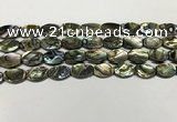 CSB4159 15.5 inches 8*12mm flat drum abalone shell beads wholesale
