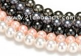 CSB44 16 inches 12mm round shell pearl beads Wholesale