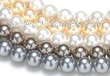 CSB50 16 inches 14mm round shell pearl beads Wholesale