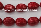 CSB554 15.5 inches 12*15mm whorl teardrop shell pearl beads
