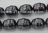 CSB586 15.5 inches 13*16mm whorl oval shell pearl beads