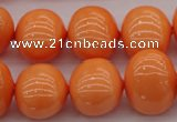CSB711 15.5 inches 16*19mm oval shell pearl beads
