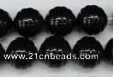 CSB897 15.5 inches 16mm whorl round shell pearl beads wholesale