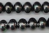 CSB909 15.5 inches 10*14mm rondelle shell pearl beads wholesale