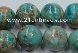 CSE03 15.5 inches 18mm round natural sea sediment jasper beads