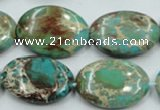 CSE09 15.5 inches 18*25mm oval natural sea sediment jasper beads