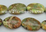 CSE125 15.5 inches 18*25mm oval dyed natural sea sediment jasper beads