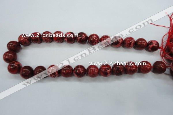 CSE162 15.5 inches 10mm round dyed natural sea sediment jasper beads
