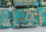 CSE17 15.5 inches 22*30mm rectangle natural sea sediment jasper beads