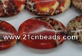 CSE204 15.5 inches 22*30mm oval dyed natural sea sediment jasper beads