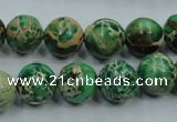 CSE222 15.5 inches 16mm round dyed natural sea sediment jasper beads