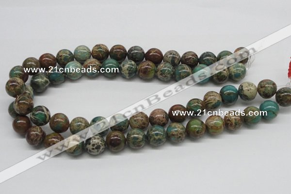 CSE5006 15.5 inches 14mm round natural sea sediment jasper beads