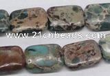 CSE5016 15.5 inches 13*18mm rectangle natural sea sediment jasper beads