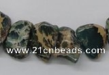 CSE5020 15.5 inches 15*12mm nuggets natural sea sediment jasper chip beads